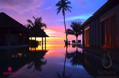 villa-samara-beachfront-villa-koh-samui-evening-sunset