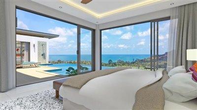 chaweng-noi-sea-view-villas-ko-samui-Bedroom-View