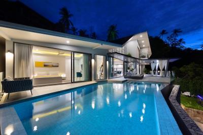 Stunning-Sea-View-Villas-Ko-Samui-Pool-Night