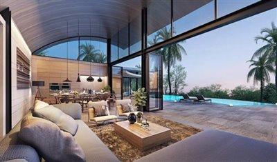 The-Lux-Samui-Development-Living-Area-Rendering