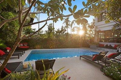 Beachside-Pool-Villa-For-Sale-Koh-Samui-Sun-Set
