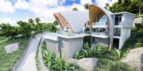 Image No.1-Maison / Villa de 4 chambres à vendre à Laem Set