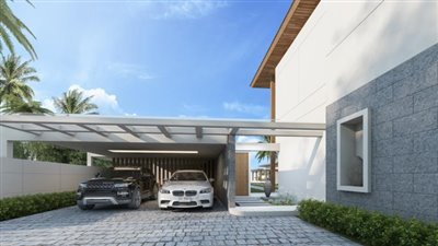Absolute-Beachfront-Villa-For-Sale-Ko-Samui-Parking