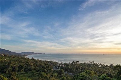 Laem-Yai-Sea-View-Villa-Samui-View-Evening