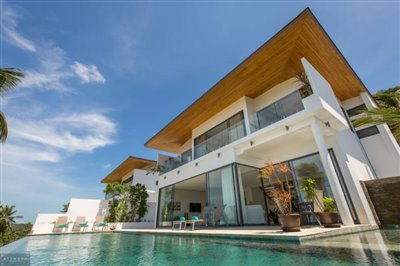 Contemporary-Sea-View-Villas-For-Sale-Koh-Samui-Exterior-Pool