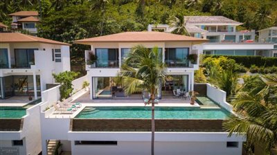 Contemporary-Sea-View-Villas-For-Sale-Koh-Samui-Aerial-Exterior