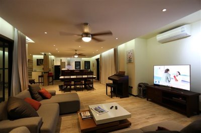 Sea-View-Property-For-Sale-Samui-Living-Area-Night