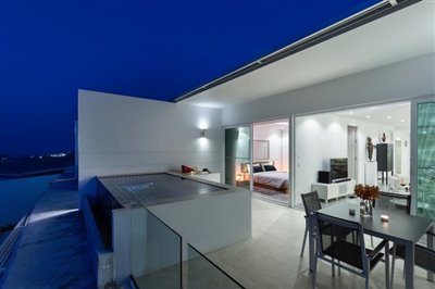 Sea-View-Unique-2-Bedroom-Apartments-Terrace-Night