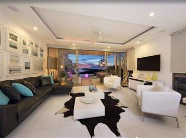Baysides-Luxury-Duplex-Villa-Ko-Samui-Living-Night