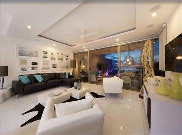 Baysides-Luxury-Duplex-Villa-Ko-Samui-Lounge-Night