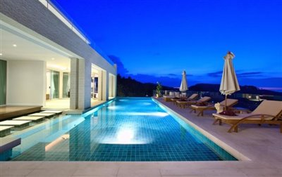 Villa-White-Tiger-Ko-Samui-Pool-Night