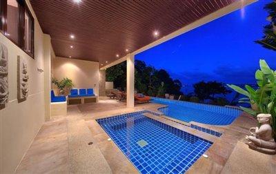 Villa-Seven-Swifts-Ko-Samui-Pool-Night