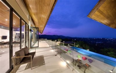 Villa-Nojoom-Hills-Ko-Samui-Living-Balcony