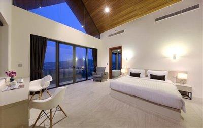 Villa-Nojoom-Hills-Ko-Samui-Bedroom-Night