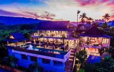Baan-Grand-Vista-Villa-Ko-Samui-Night
