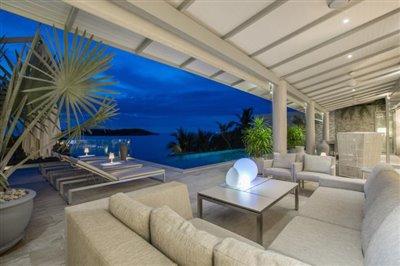 Villa-Som-Beachfront-Property-Outdoor-Living-Night