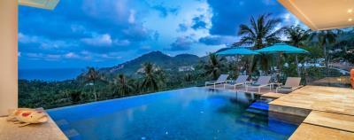 Villa-Aruna-Ko-Samui-Pool-Night