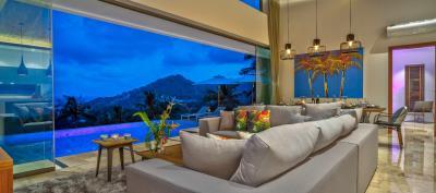 Villa-Aruna-Ko-Samui-Lounge-View-Night