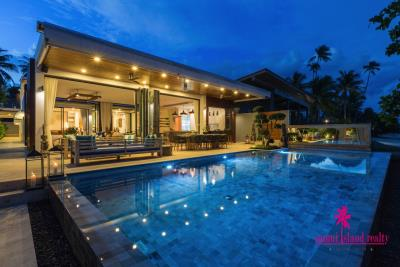 Villa-Suma-Beachfront-Property-Ko-Samui-Exterior-Night