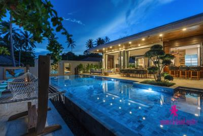 Villa-Suma-Beachfront-Property-Ko-Samui-Night