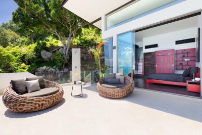 Suncliff-Villa-Chaweng-Noi-Bedroom-Terrace