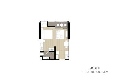 Ashton-Asoke-Condo-1-Bedroom-Floor-Plan