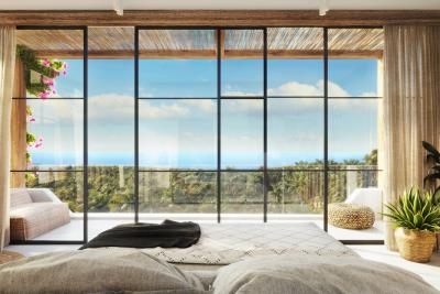 Chandra-Villas-Ko-Samui-Bedroom-View-To-Sea