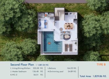 XV-Villas-Samui-Living-Level-Plan
