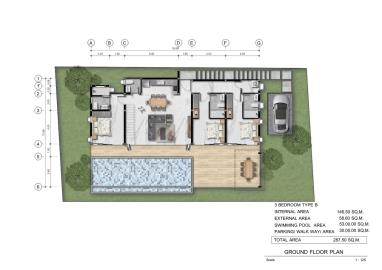 Santi-Pura-Koh-Samui-Type-B-Ground-Floor-Plan