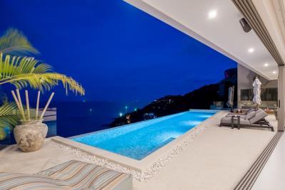 Luxury-Villa-Samui-Pool-Night