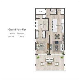 Floor plan - one bedroom