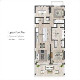 Floor plan - two bedroom upper level
