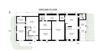 AZ-Italian-Properties---House-for-Sale-Tuscany-Lucca-Floor-plan-Ground-floor
