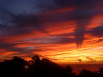 red-sun-set