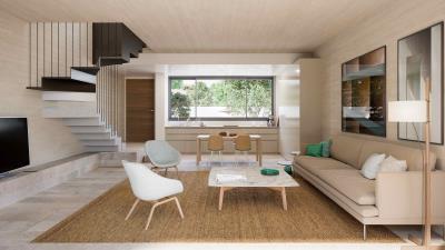 Minthis_CGI_Ezousa-Suites_Oleander-duplex_living-area---kitchen