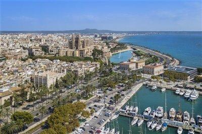 Palma de Mallorca Coast Aerial