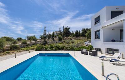 Villa-Vamos-Apokoronas-Crete-For-SaleSide-View-with-Pool