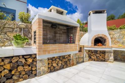 Two-villas-in-Chania-Crete-for-sale-BBQ-oven-area
